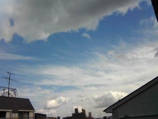 台風一過な天気